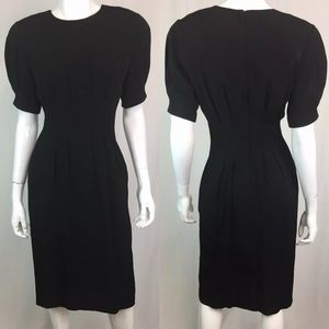 Vintage Sara Campbell Pintuck Pleated Sheath Dress